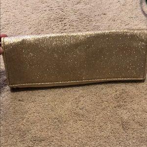 Gold sparkle clutch